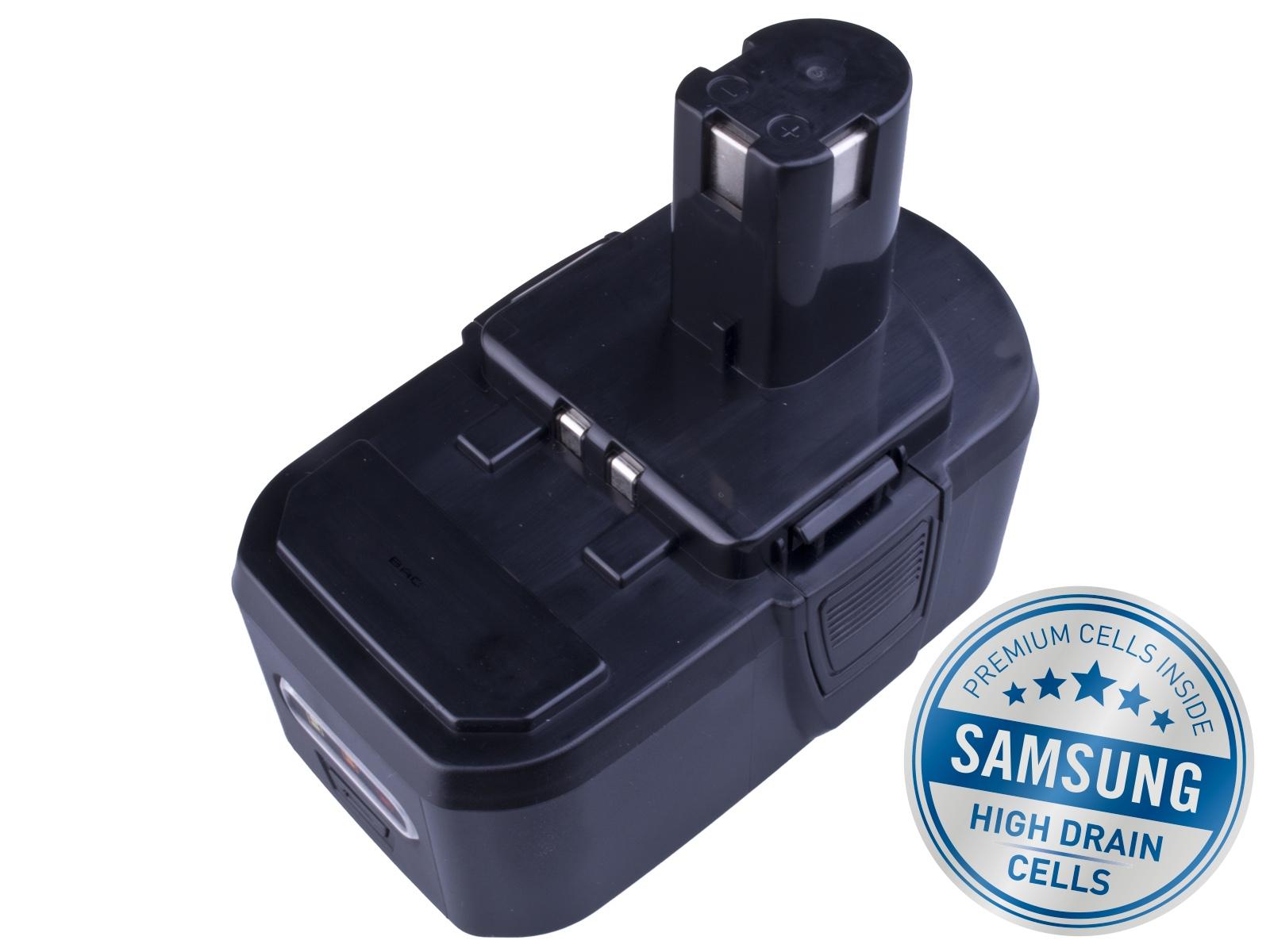 Baterie AVACOM RYOBI BPL 1820 Li-Ion 18V 4000mAh, články SAMSUNG