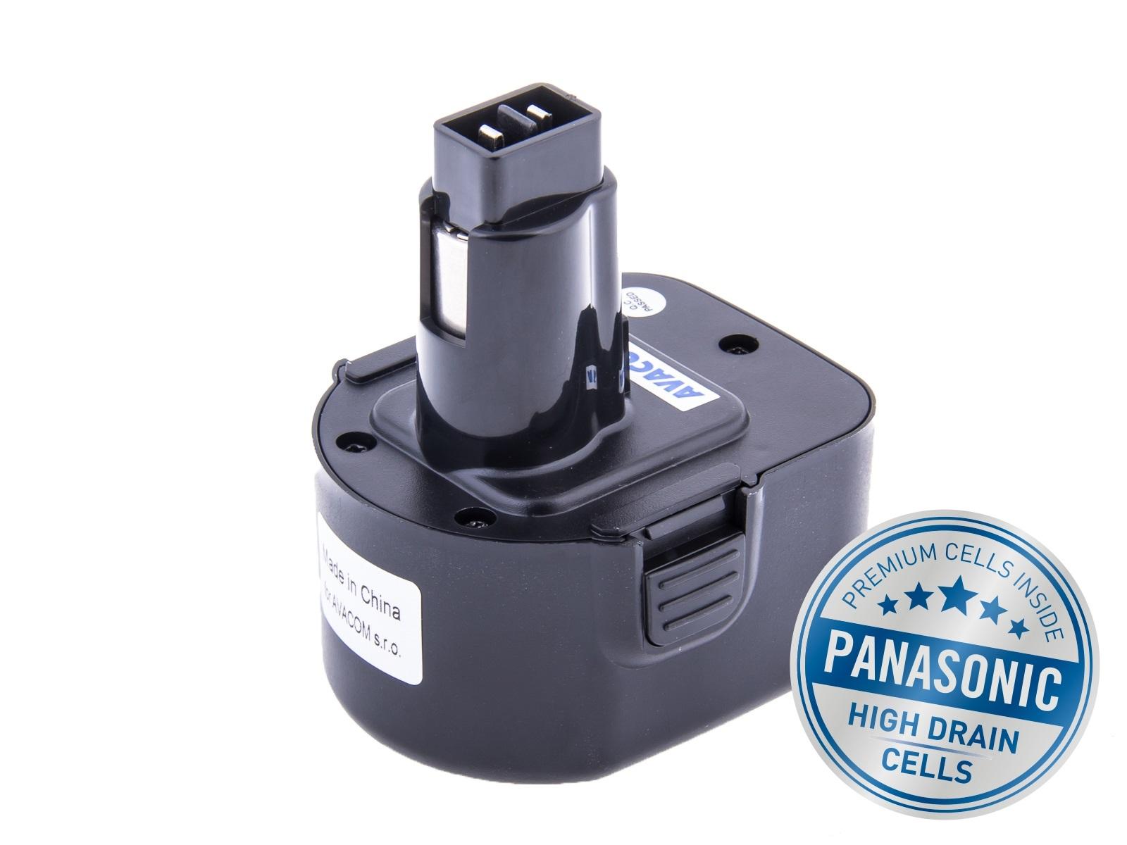 Baterie AVACOM BLACK & DECKER A9252  Ni-Mh 12V 3000mAh, články PANASONIC - ATBD-12Mh-30H