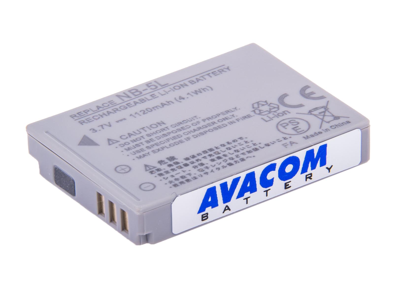 Baterie AVACOM Canon NB-5L Li-ion 3.7V 1120mAh 4.1Wh