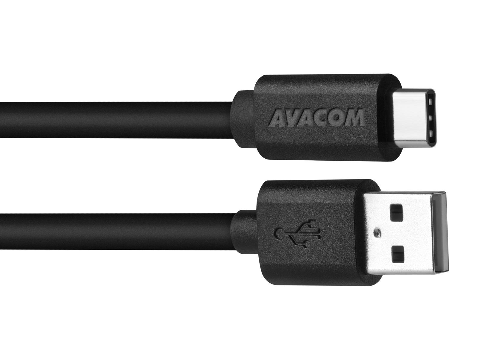AVACOM datový a nabíjecí kabel USB - USB Type-C, 100cm, černá - DCUS-TPC-P10K