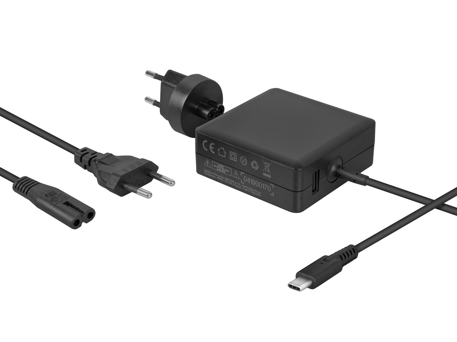 AVACOM nabíjecí adaptér pro MacBooky s USB Type-C 65W + USB A
