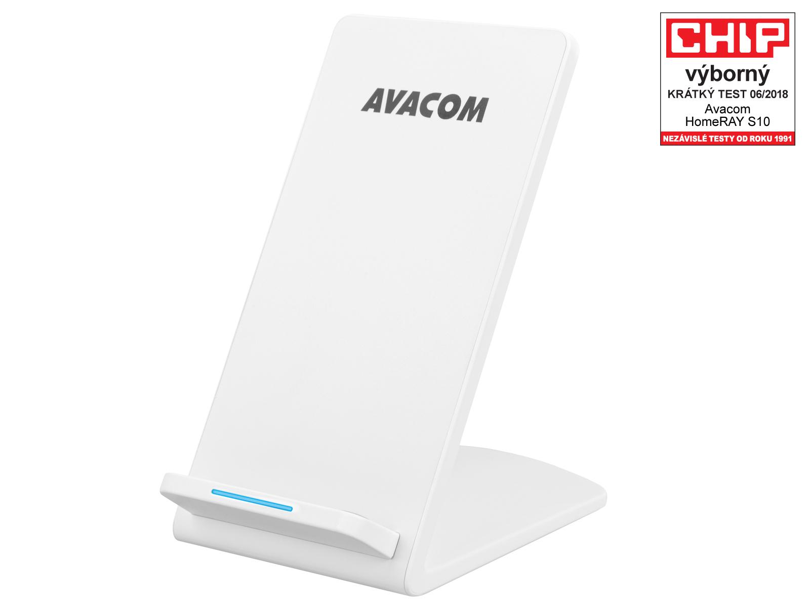 AVACOM HomeRAY S10 bezdrátová nabíječka stojánek, bílá