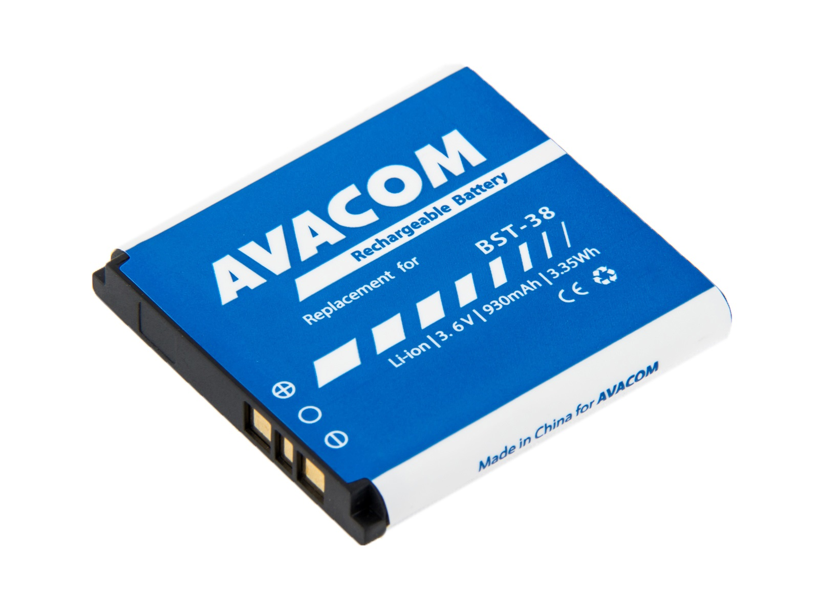Baterie AVACOM do mobilu Sony Ericsson S510i, K770  Li-Ion 3,6V 930mAh (náhrada BST-38) - GSSE-BST38-S930