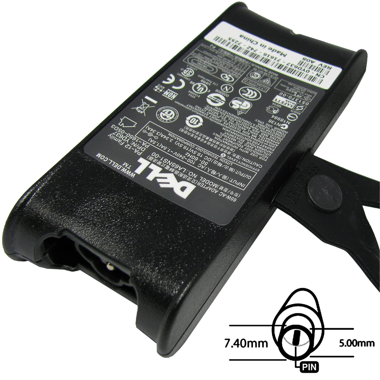 Napájecí adaptér 65W, 19,5V 7.4x5.0, originál DELL