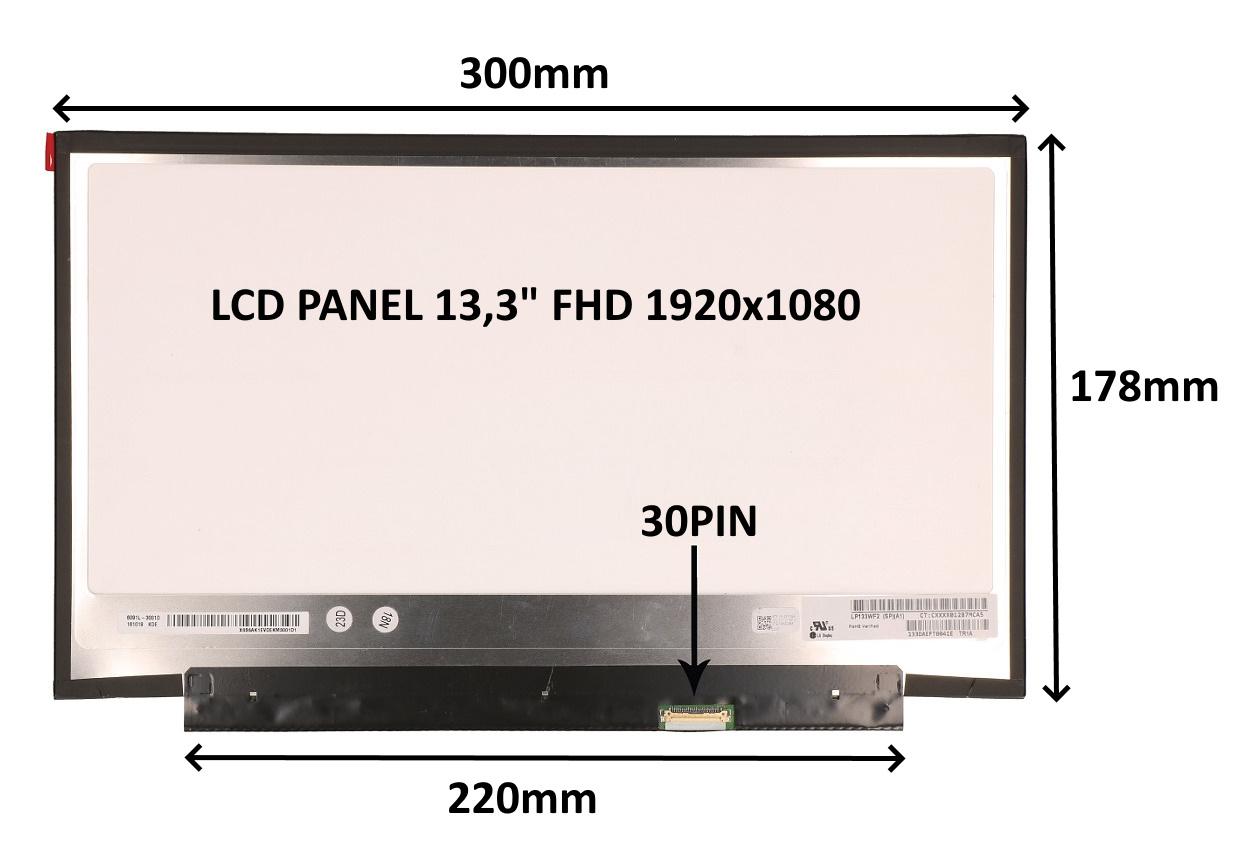 LCD PANEL 13,3'' FHD 1920x1080 30PIN MATNÝ / BEZ ÚCHYTŮ - 77048180