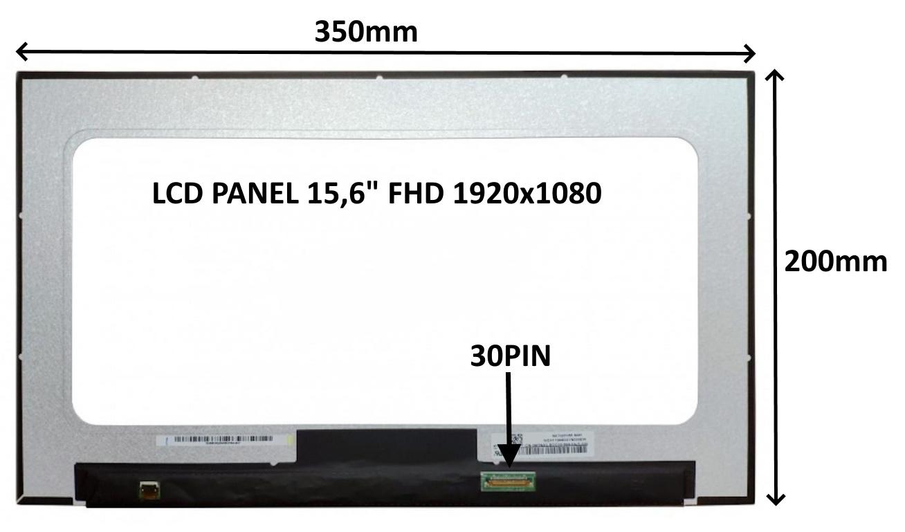 LCD PANEL 15,6'' FHD 1920x1080 30PIN MATNÝ / BEZ ÚCHYTŮ - 77042505