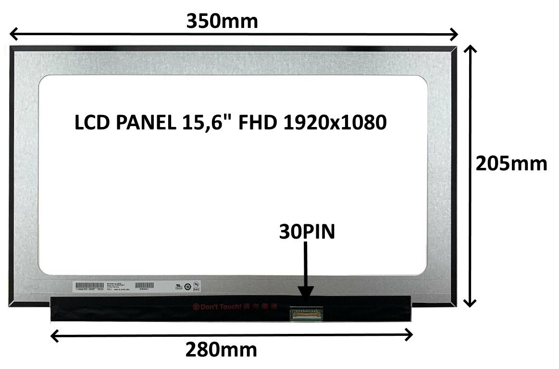 LCD PANEL 15,6'' FHD 1920x1080 30PIN MATNÝ IPS / BEZ ÚCHYTŮ - 77021571
