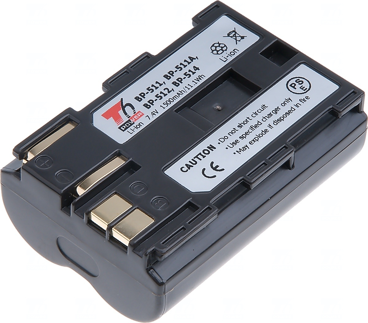 Baterie T6 power Canon BP-508, BP-511, BP-511A, BP-512, BP-514, 1500mAh, hnědá