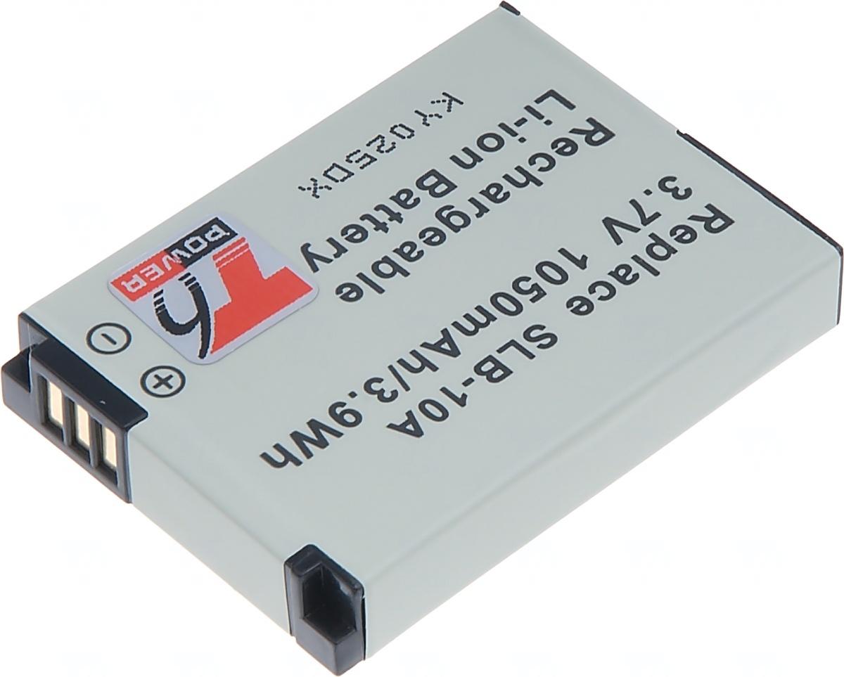 Baterie T6 power Samsung SLB-10A, 1050mAh, černá