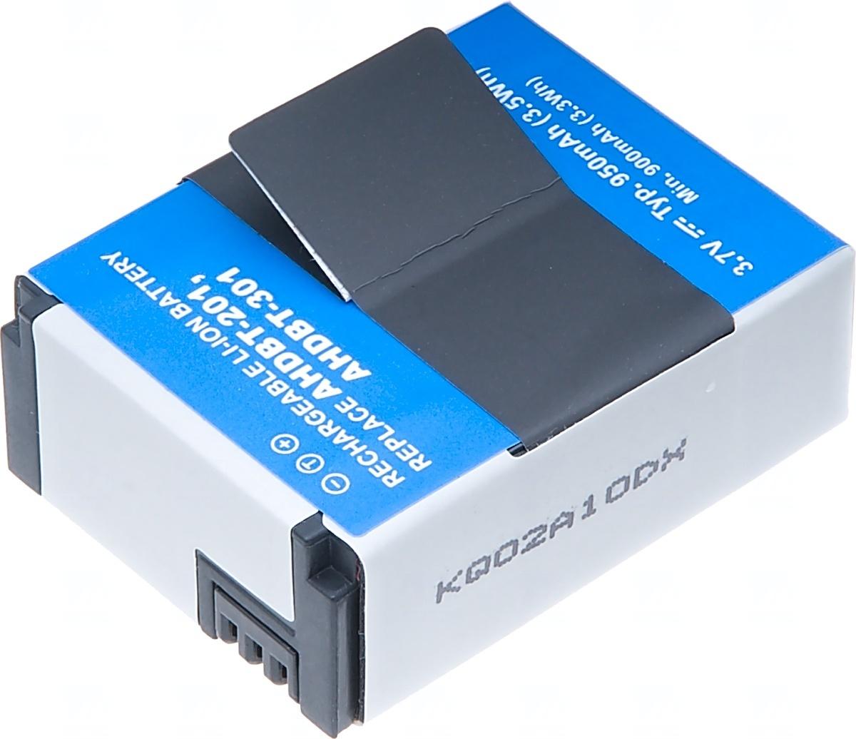 Baterie T6 power GoPro AHDBT-201, 950mAh, šedá