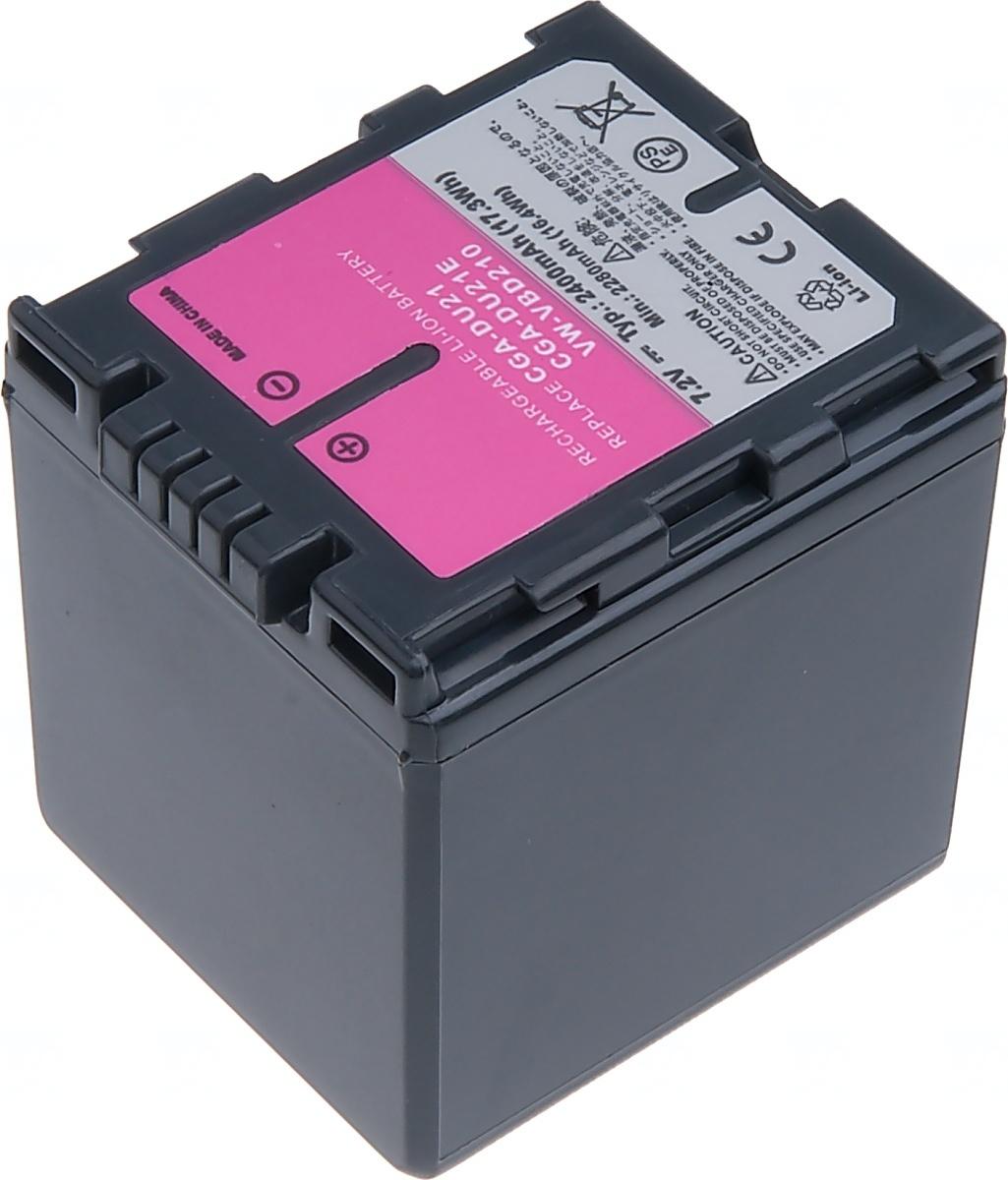 Baterie T6 power Panasonic VW-VBD210, CGA-DU21, Hitachi DZ-BP14SW, 2400mAh, šedá