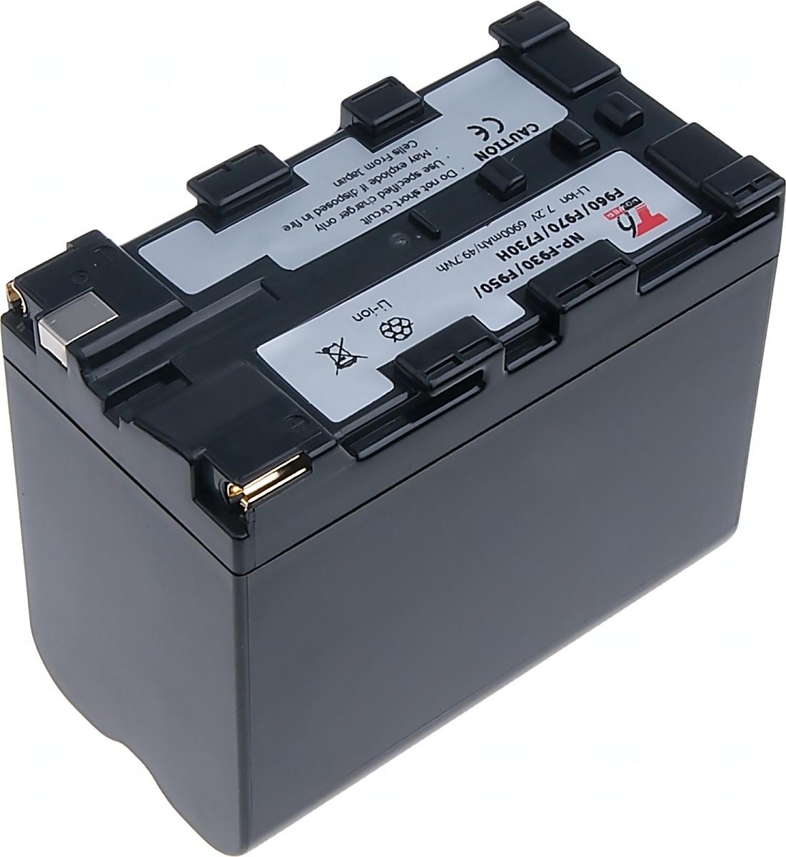 Baterie T6 power Sony NP-F930, NP-F950, NP-F960, NP-F730H, NP-F970, 6900mAh, šedá