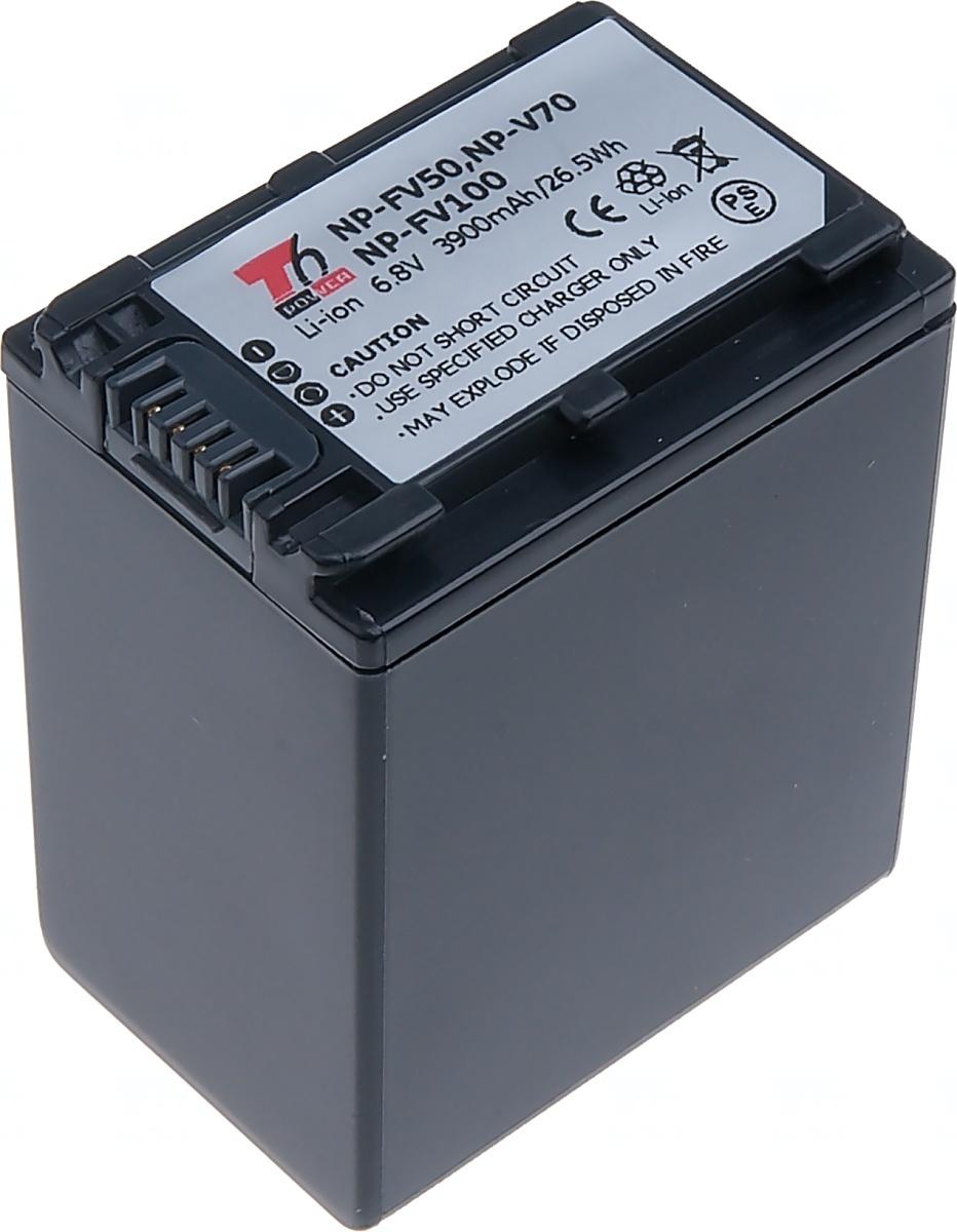 Baterie T6 power Sony NP-FV100, 3150mAh, šedá