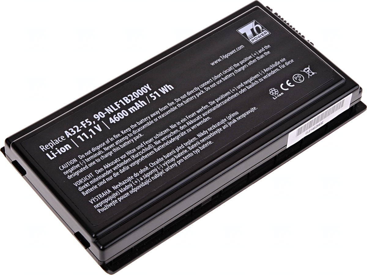 Baterie T6 power Asus F5, X50, X59, 6cell, 4600mAh