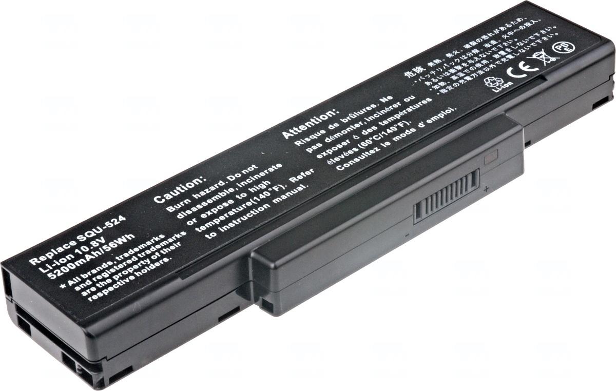 Baterie T6 power Asus A9, MSI CR400, CX410, EX400, EX600, EX720, GE600, GX600, GX720, 6cell, 5200mAh