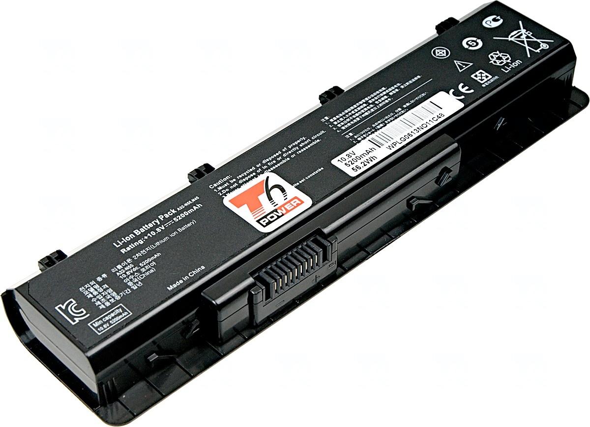 Baterie T6 power Asus N45, N55, N75, 6cell, 5200mAh