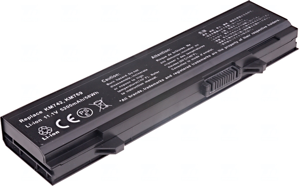 Baterie T6 power Dell Latitude E5400, E5410, E5500, E5510, 6cell, 5200mAh