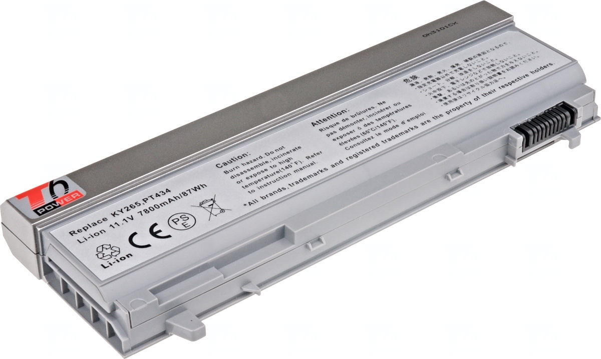 Baterie T6 power Dell Latitude E6400, E6410, E6500, E6510, 9cell, 7800mAh