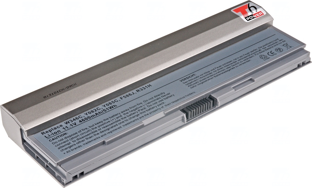 Baterie T6 power Dell Latitude E4200, 6cell, 4600mAh