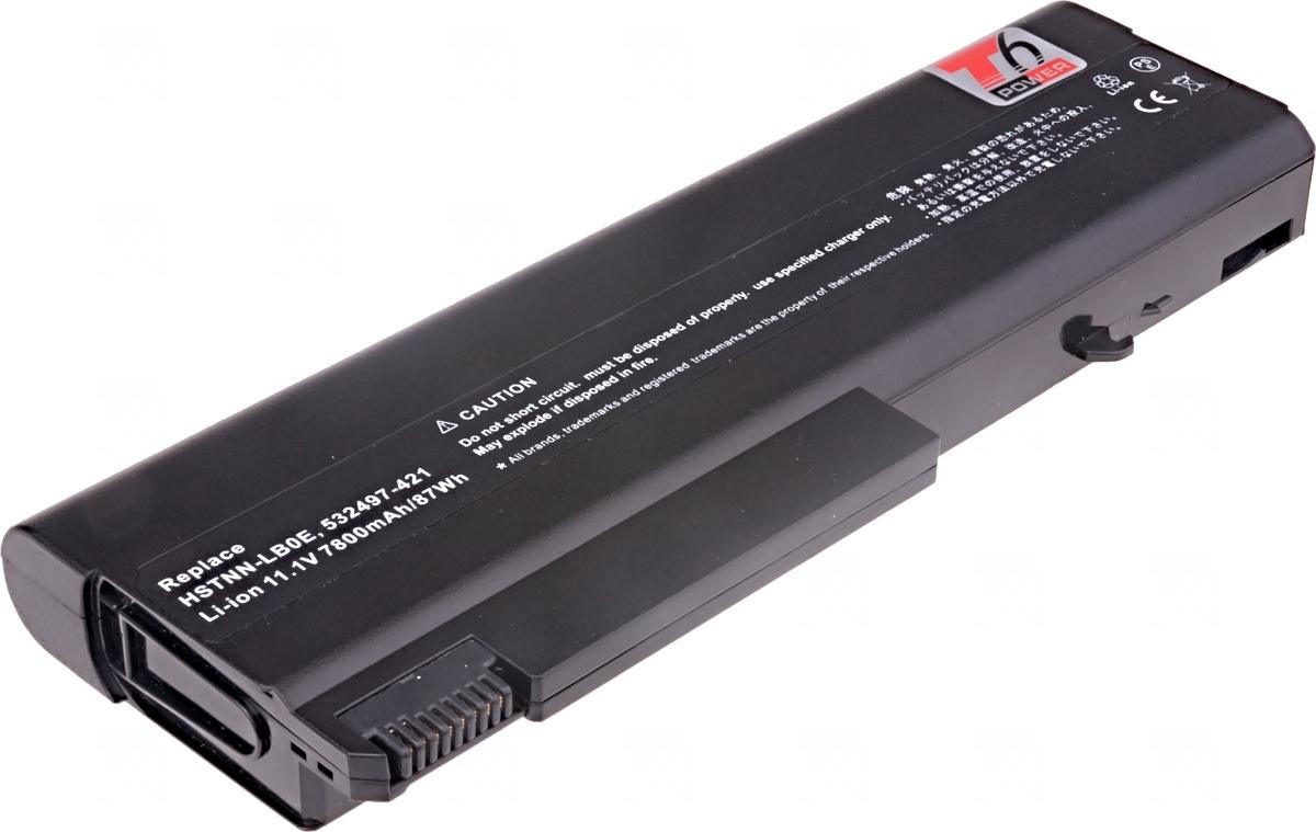 Baterie T6 power HP Compaq 6530b, 6730b, 6930b, ProBook 6440b, 6450b, 6540b, 6550b, 9cell, 7800mAh