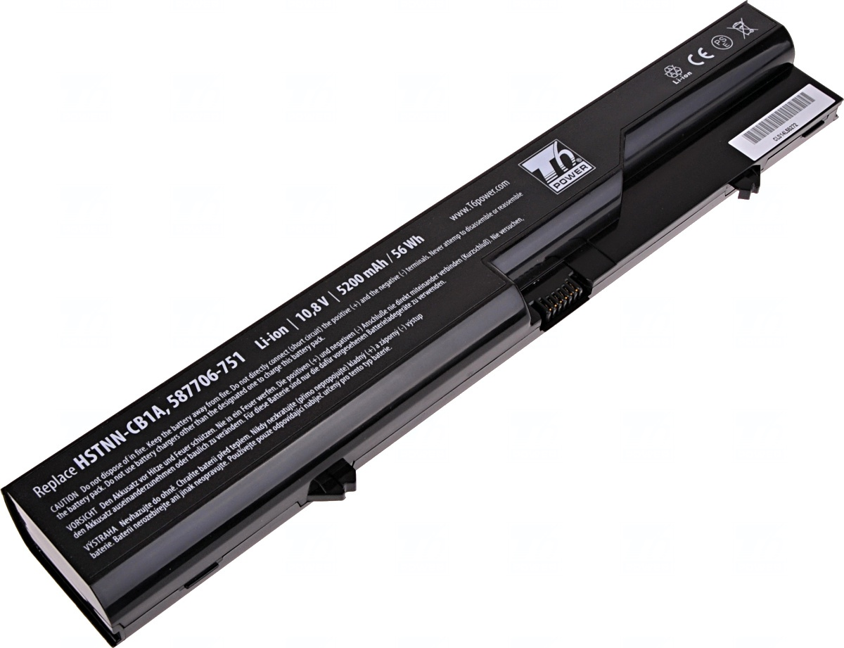 Baterie T6 power HP ProBook 4320s, 4420s, 4520s, HP 320, 325, 420, 620, 625, 6cell, 5200mAh