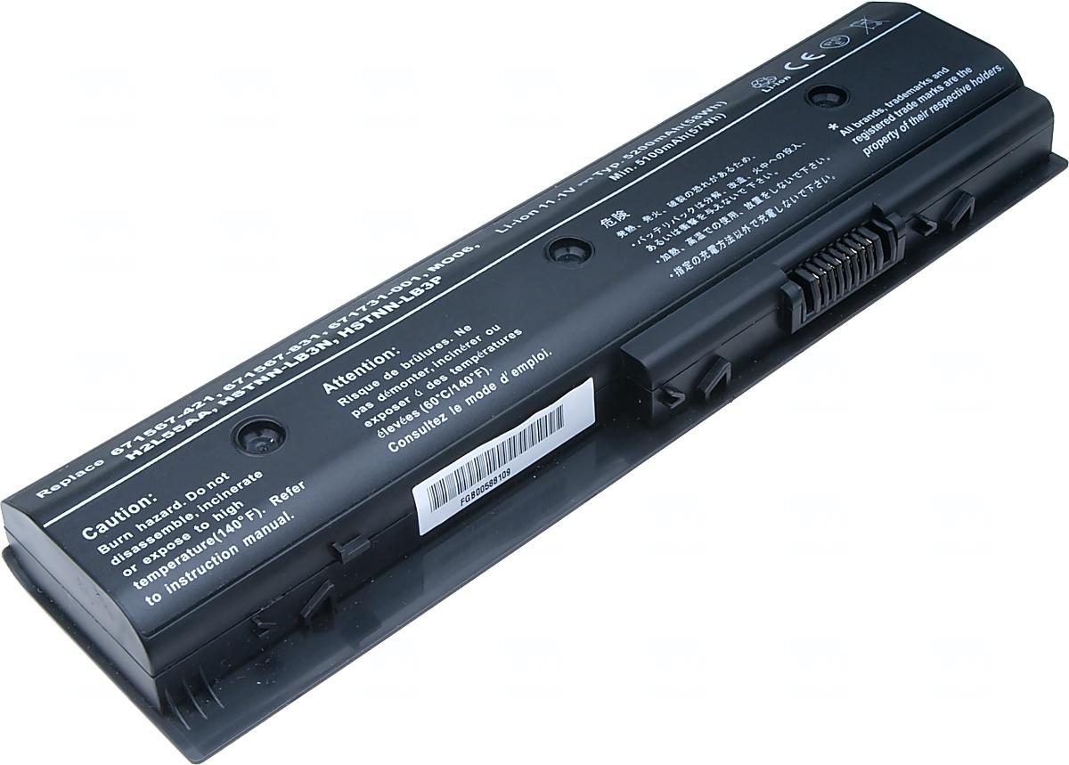 Baterie T6 power HP Pavilion dv4-5000, dv6-7000, dv7-7000, m6-1000 serie, 6cell, 5200mAh