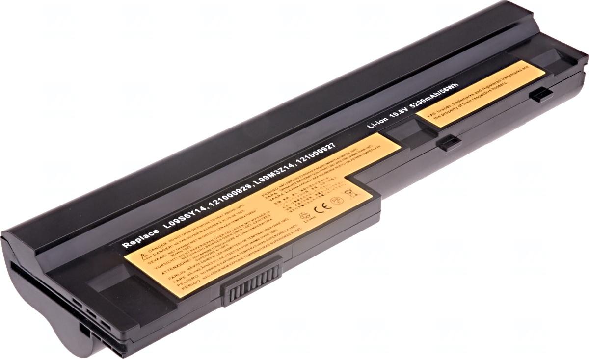 Baterie T6 power Lenovo IdeaPad S10-3, S100, S205, U160, U165, 6cell, 5200mAh, black
