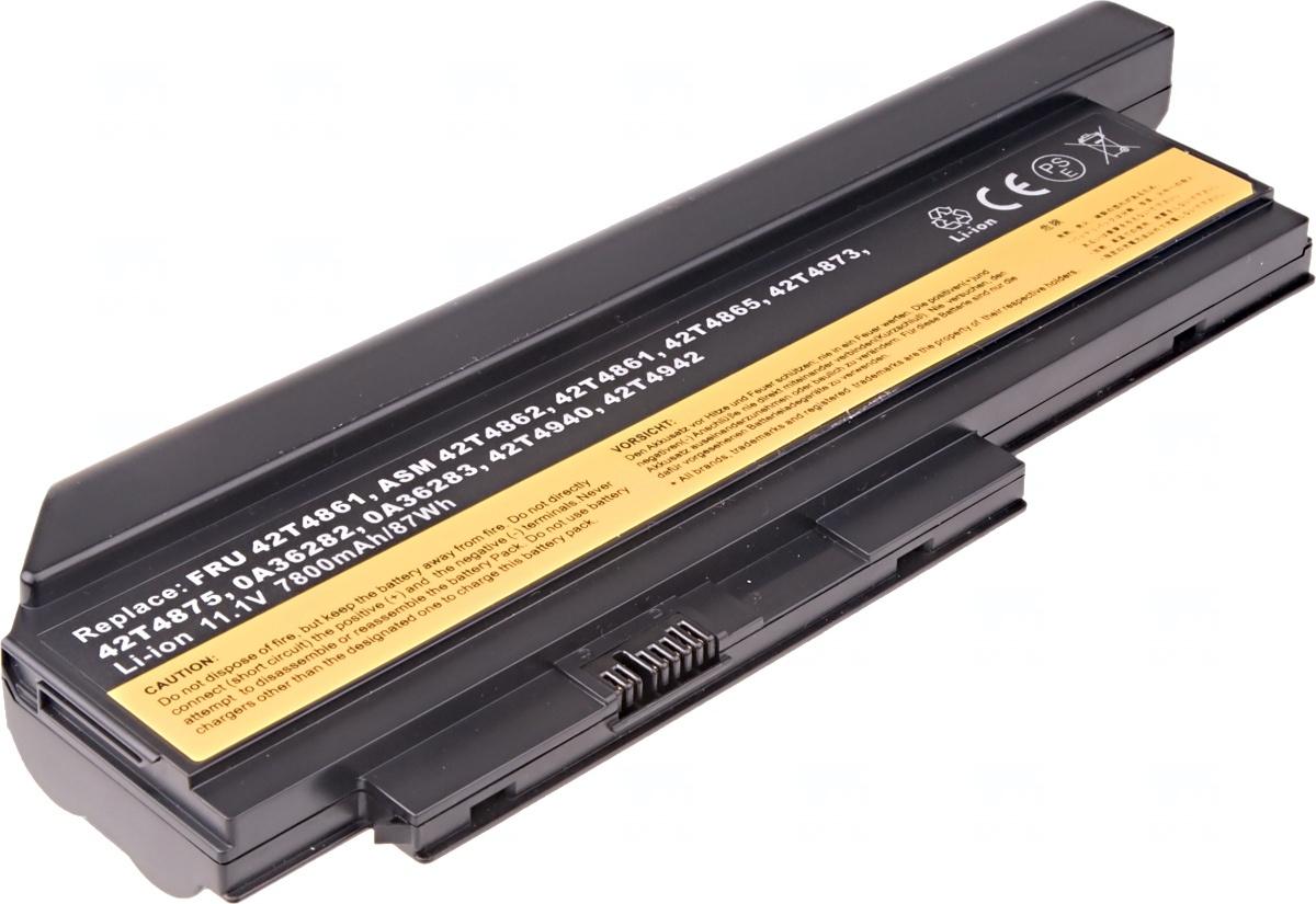 Baterie T6 power Lenovo ThinkPad X220, X220i, 9cell, 7800mAh
