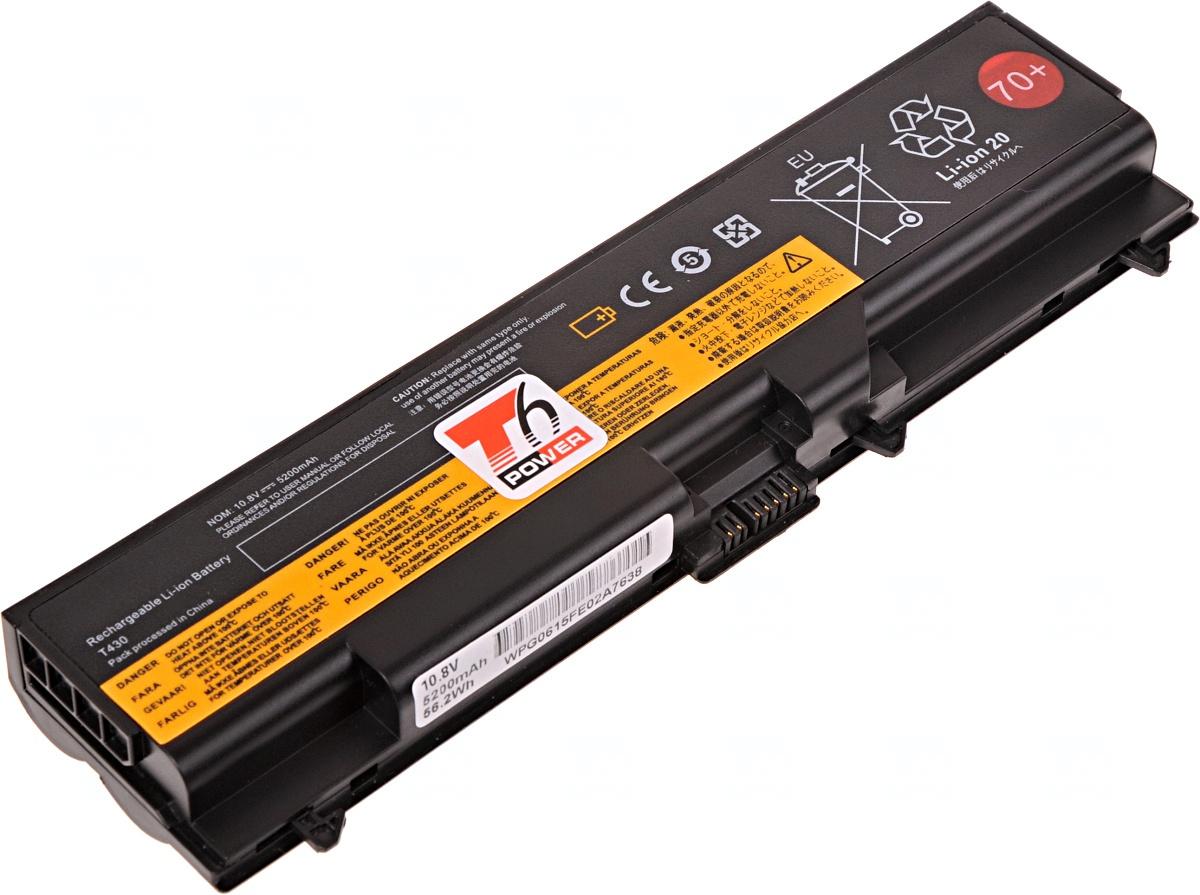 Baterie T6 power Lenovo ThinkPad T430, T430i, T530, T530i, L430, L530, W530, 6cell, 5200mAh
