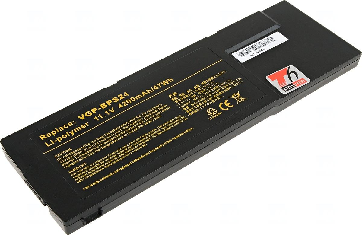 Baterie T6 power Sony Vaio VPC-SA, VPC-SB, VPC-SD, VPC-SE serie, 6cell, 4200mAh