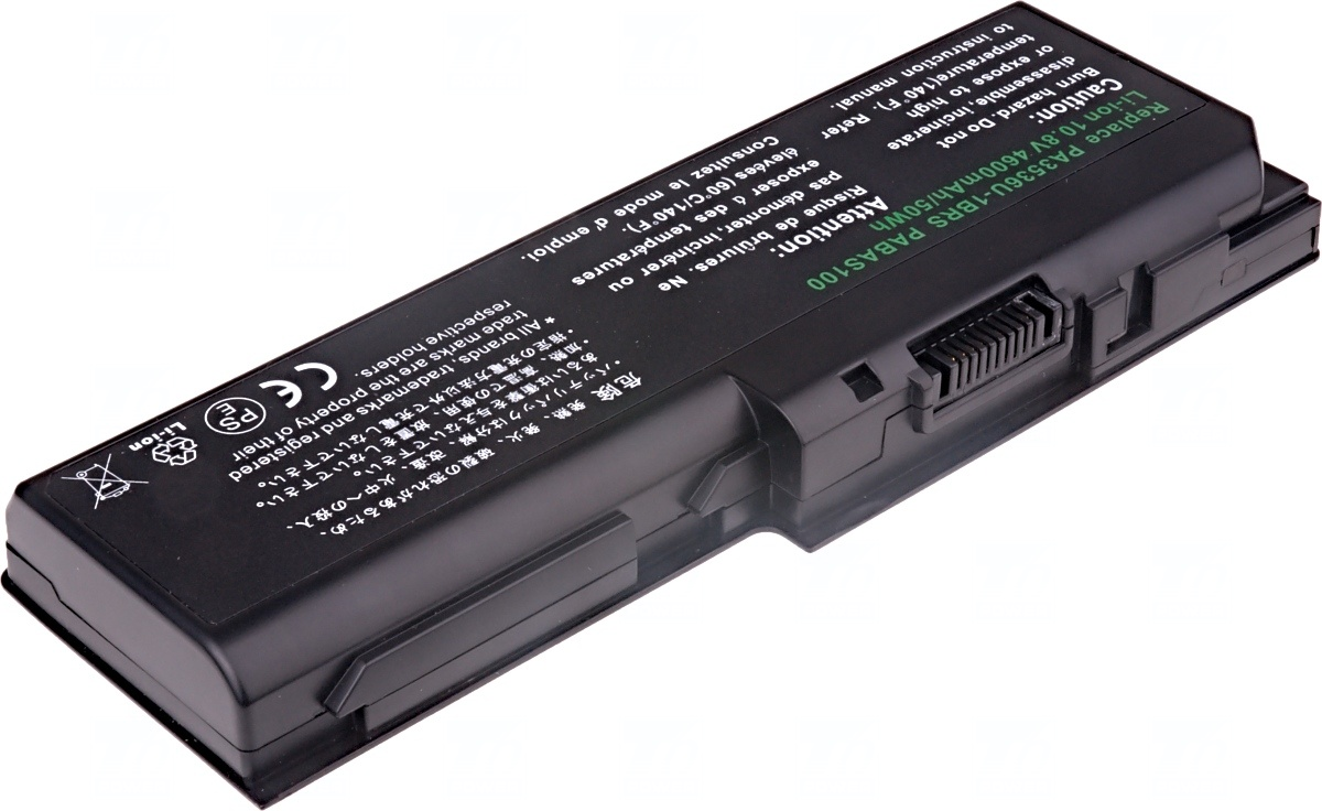 Baterie T6 power Toshiba Satellite P200, P205, P300, P305, L350, L355, X200, X205, 6cell, 4600mAh