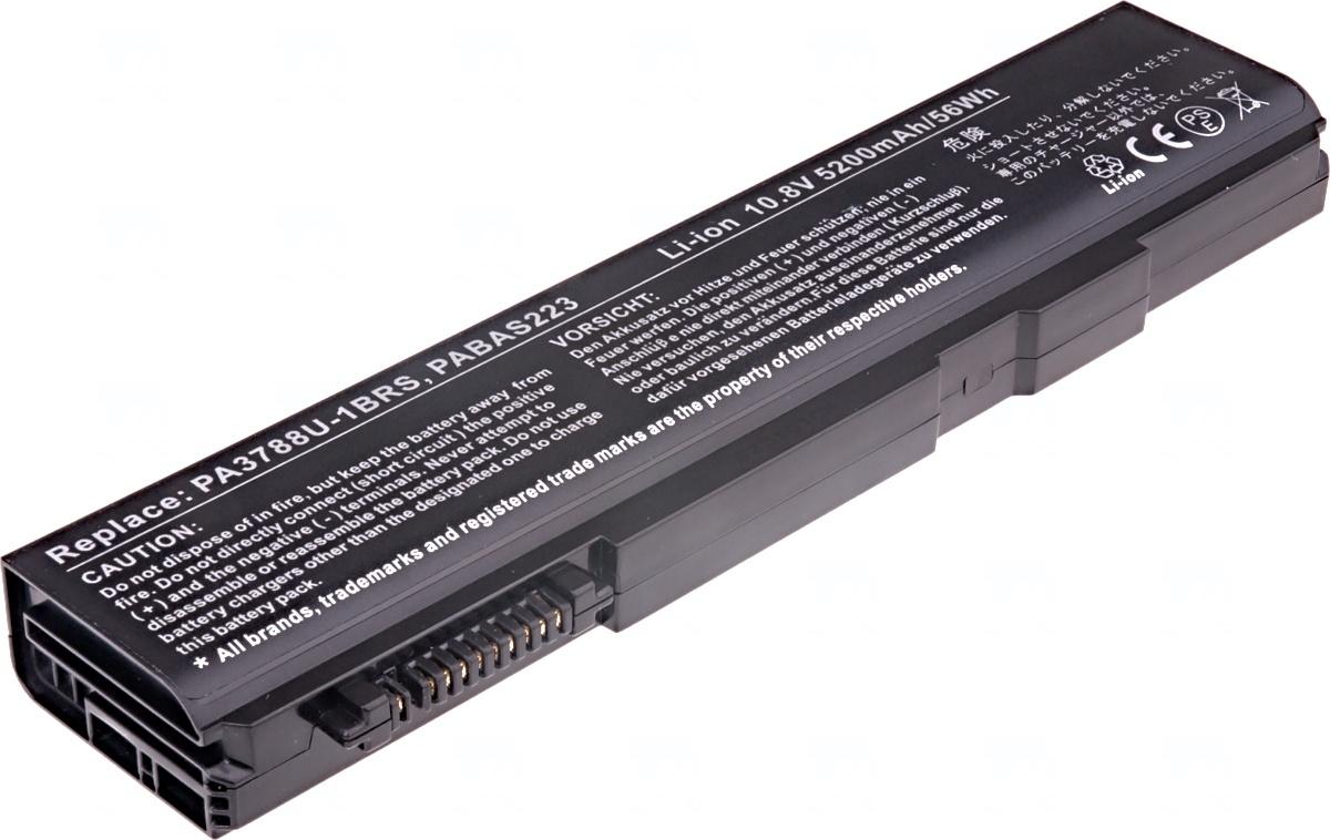 Baterie T6 power Toshiba Tecra A11, S11, M11, Satellite Pro S500, S750, 6cell, 5200mAh
