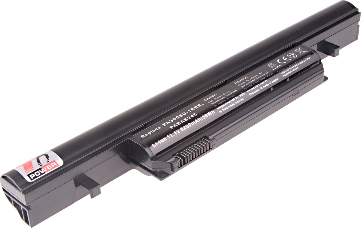 Baterie T6 power Toshiba Tecra R850, R950, Satellite R850, Pro R850, 6cell, 5200mAh