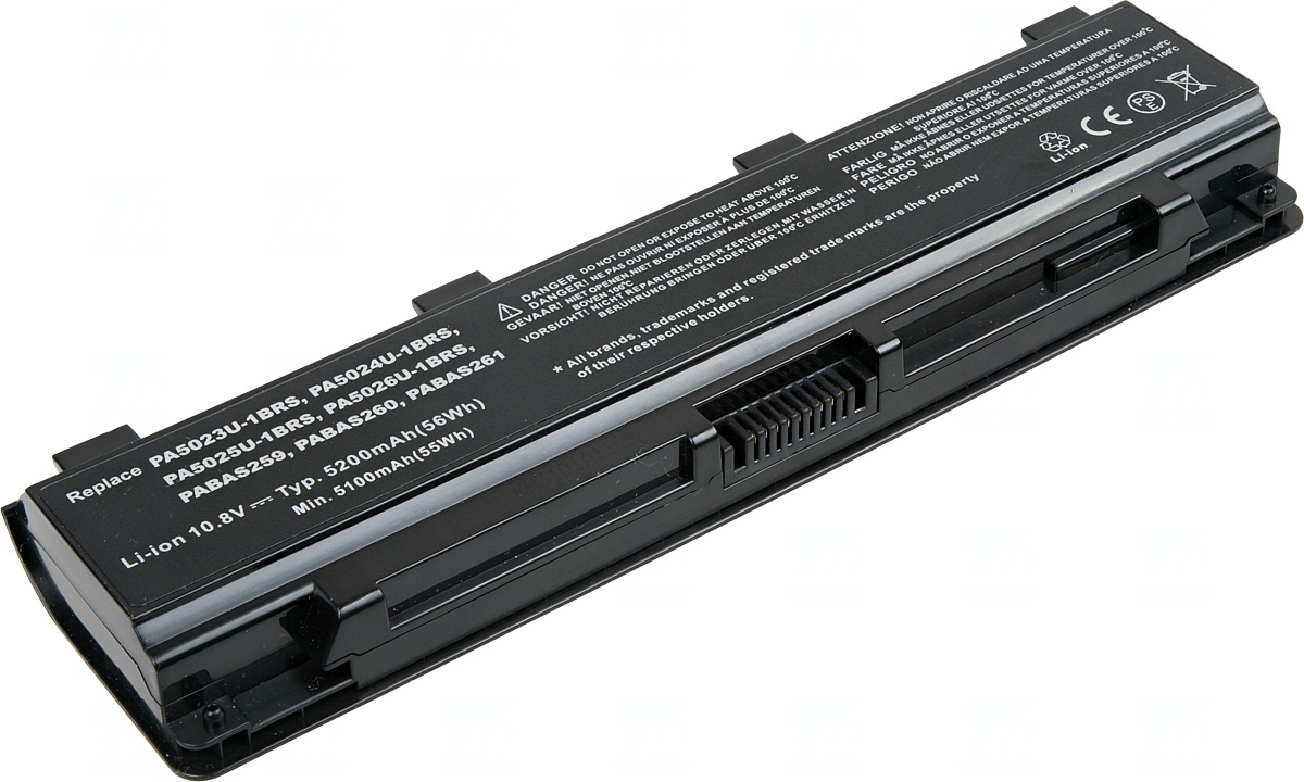 Baterie T6 power Toshiba Satellite C50, C70, C800, C850, L70, L800, M800, P800, 6cell, 5200mAh