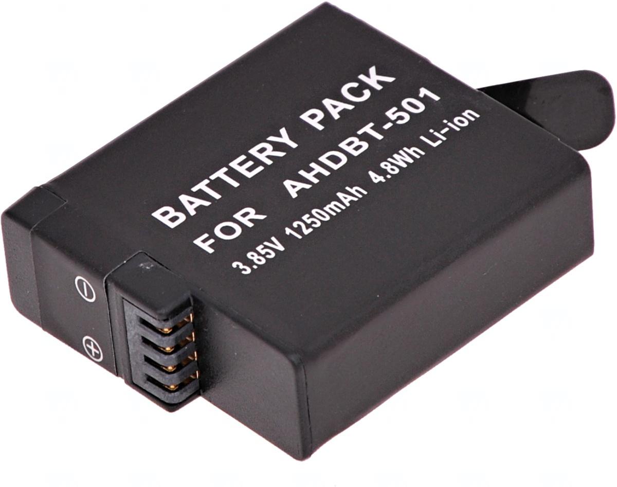 Baterie T6 power GoPro Hero5, Hero6 Black, AHDBT-501, AABAT-001, 601-10197-000, 1250mAh, 4,8Wh