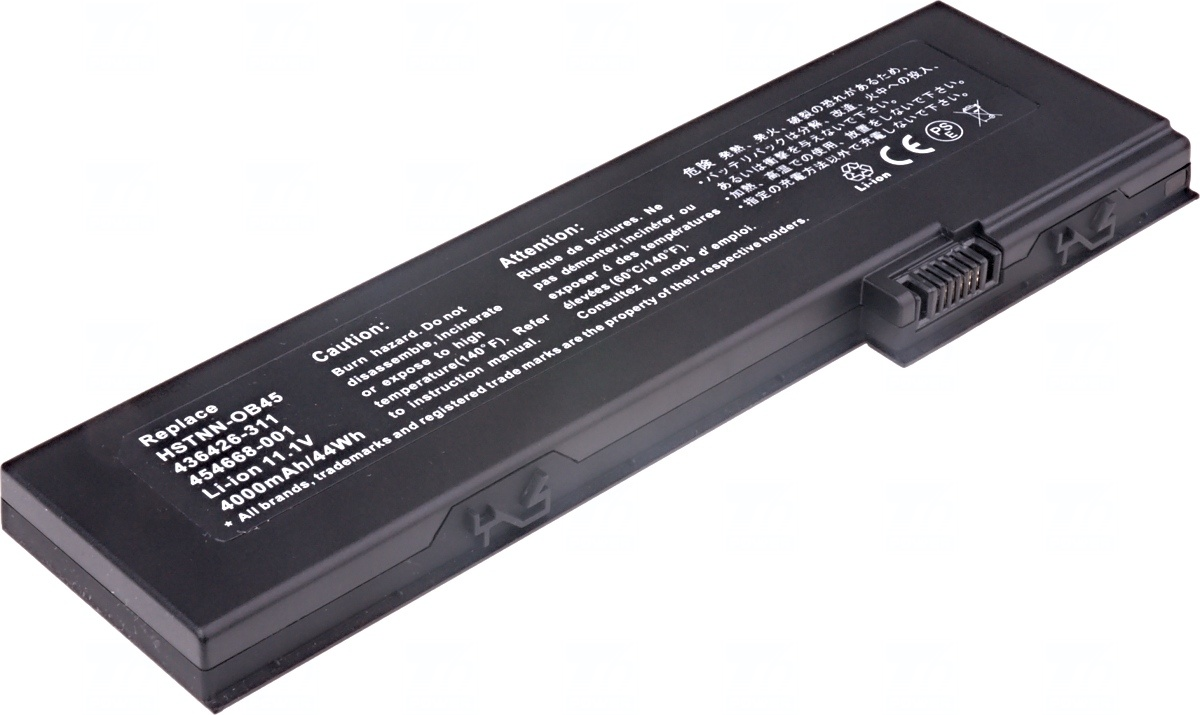Baterie T6 power HP EliteBook 2710p, 2730p, 2740p, 2740w, 2760p, 4000mAh, 44Wh, 6cell