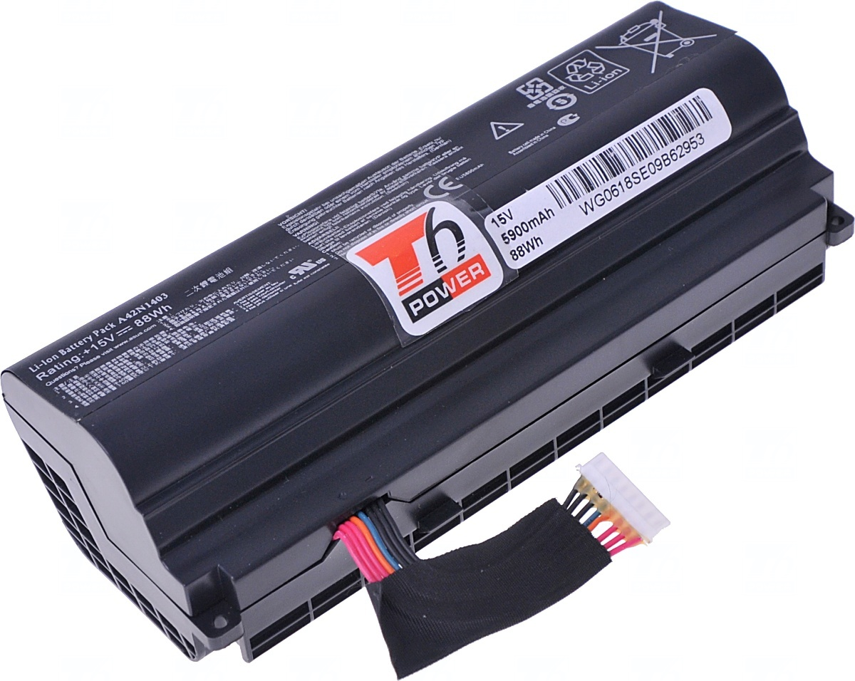 Baterie T6 power Asus G751JL, G751JM, G751JT, G751JY, 5200mAh, 77Wh, 8cell