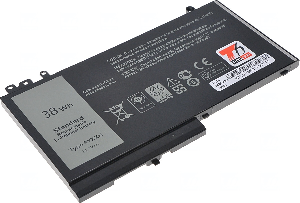 Baterie T6 power Dell Latitude E5450, E5550, E5250, 3150, 3160, 3420mAh, 38Wh, 3cell, Li-pol