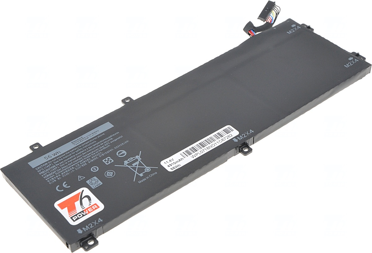 Baterie T6 power Dell Precision 15 5510, Precision M5510, XPS 15 9550, 4900mAh, 56Wh, 3cell, Li-pol