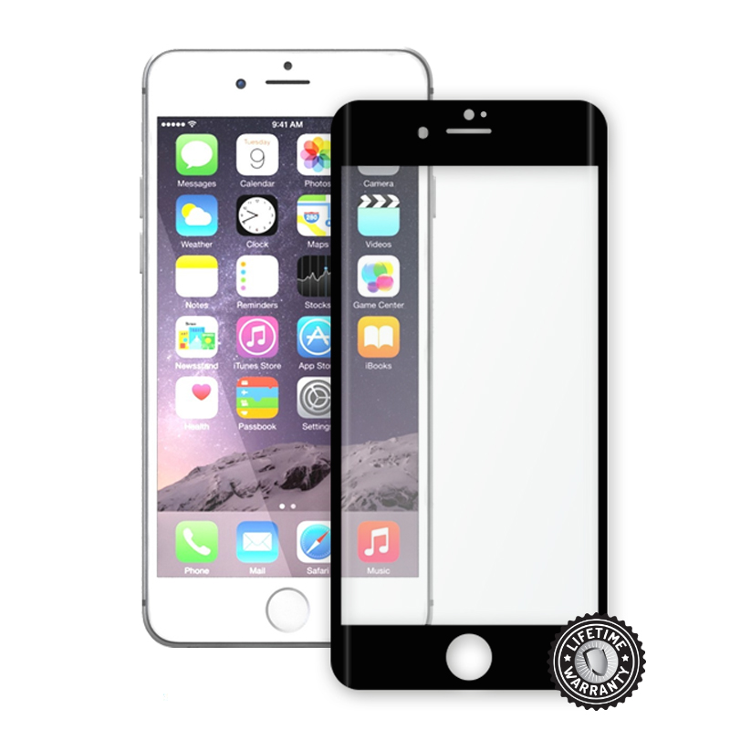 Screenshield™ Apple iPhone 7 Plus Tempered Glass protection display (full COVER BLACK metalic frame)