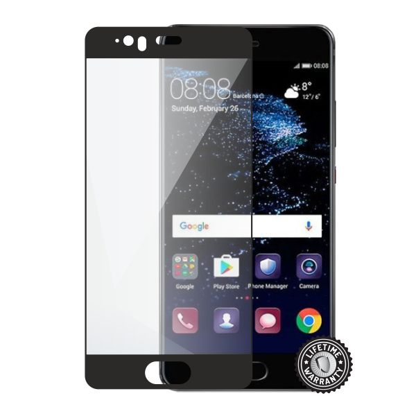 Screenshield HUAWEI P10 Plus Tempered Glass protection (full COVER black)