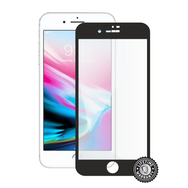 Screenshield APPLE iPhone 8 Plus Tempered Glass Protection (full COVER black) - APP-TG3DBIPH8P-D