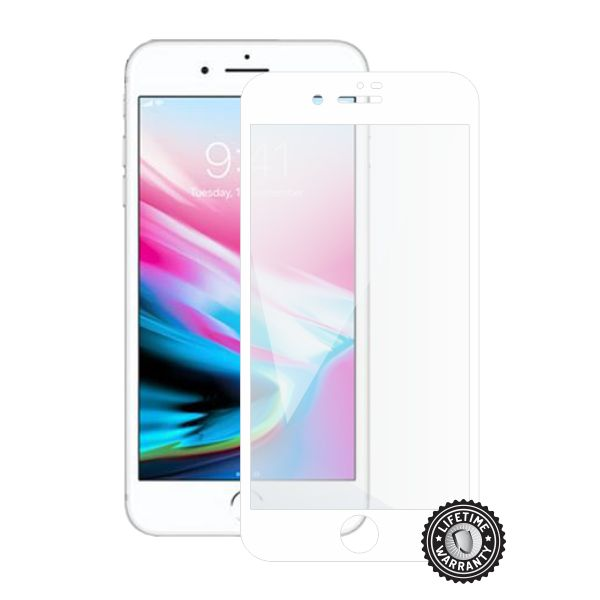 Screenshield APPLE iPhone 8 Plus Tempered Glass Protection (full COVER white) - APP-TG3DWIPH8P-D