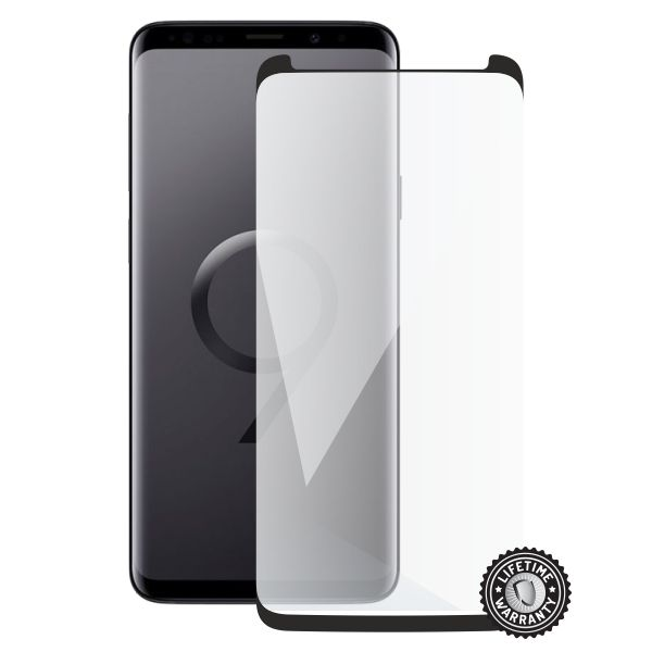 Screenshield SAMSUNG G965 Galaxy S9 Plus Tempered Glass Protection (black - CASE FRIENDLY)