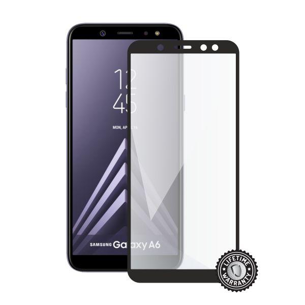 Screenshield SAMSUNG A600 Galaxy A6 Tempered Glass protection (full COVER black) - SAM-TG25DBA600-D