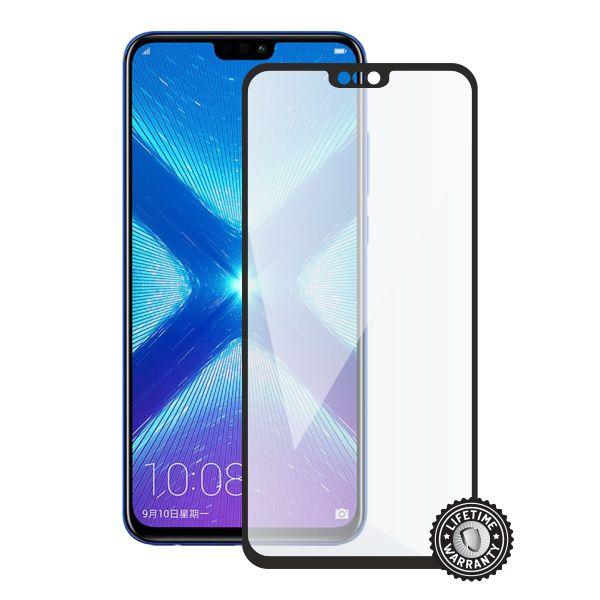 Screenshield HUAWEI Honor 8X Tempered Glass protection (full COVER black) - HUA-TG25DBHONO8X-D
