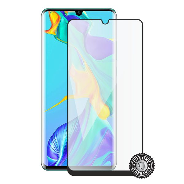 Screenshield HUAWEI P30 Pro Tempered Glass protection (black - CASE FRIENDLY)