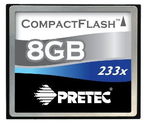 PRETEC CompactFlash 8GB 233x