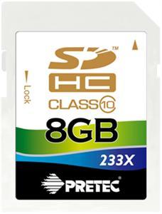 Pretec 8 GB SDHC class 10 ( 31MB/s, 11MB/s )