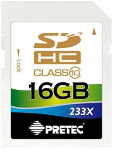 Pretec 16 GB SDHC class 10 ( 31MB/s, 11MB/s )